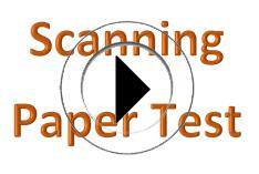 Scanning Paper Copy of Test