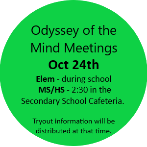 Odyssey of the Mind Information Meetings